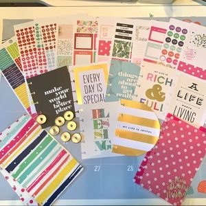 Lot of mini Happy Planner Accessories